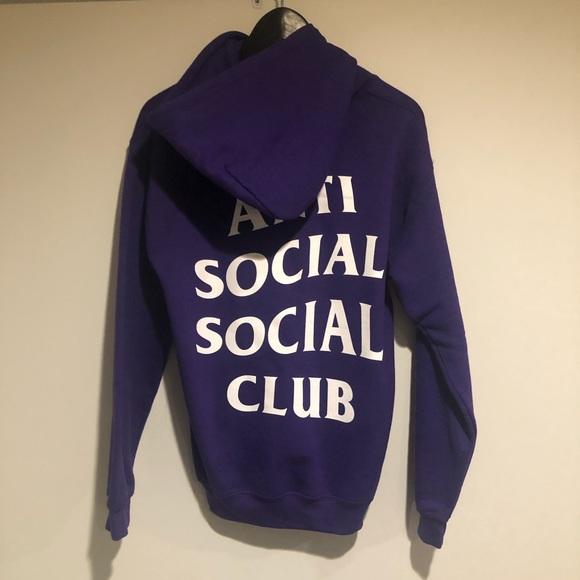 57a74891f8e9 Anti Social Social Club Tops - ASSC hoodie in purple size S